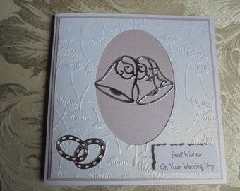 Wedding Day Congratulations Card. Congratulations on your wedding day. Occasion card. Wedding gift. Handcrafted wedding card. Handmade card.
