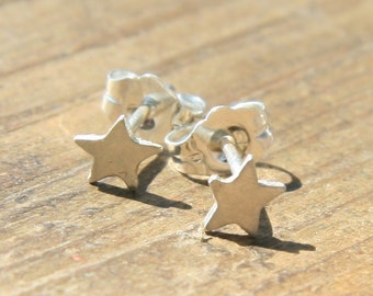 Tiny Star Post Earrings