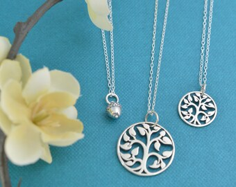 Grandmother Mother Daughter Necklace Set.  Mother Daughter jewelry.  Jewelry sets.