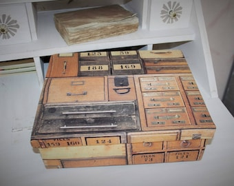 Wood and fabric storage box