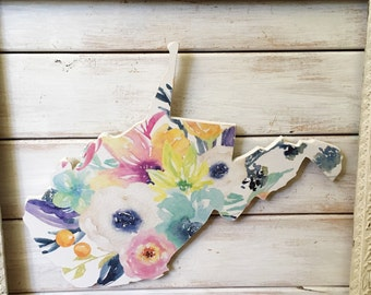 West Virginia Home Sign. Wood Sign. West Virginia. West Virginia Decor. West Virginia Sign. housewarming gift. Shabby Chic Decor
