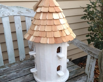 Handcrafted 100% cedar birdhouse with 8 individual rooms-Ship or Local pick-up