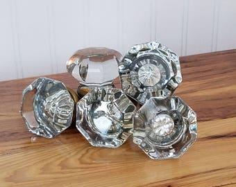 Genial Antique Glass Knobs, Hexagon Knob, Octagonal Knobs, Glass Doorknobs,  Hexagonal Brass, Vintage Glass Knobs, Art Deco Door Knob
