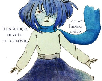 Indigo Child T-shirt - original art