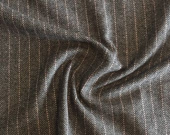 Country chic wool blend fabric