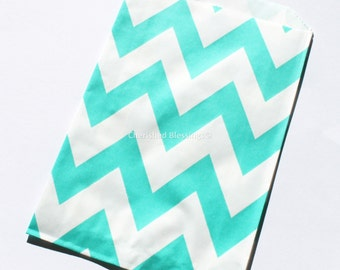 aqua Chevron Favor Bags 550 pcs Aqua Green Wedding Candy Buffet Baby Shower Paper Goods Favors Kids Birthday Party Carnival Popcorn