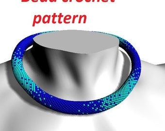 Gradient pattern for Bead crochet pattern jewelry crochet tutorial beading pattern tutorial necklace pattern beadwork pattern make jewelry