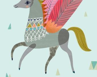 Geometric Pegasus by Sarah Walsh