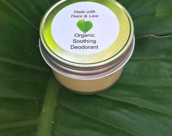 Organic Deodorant:  Soothing, Creamy, & Herb Infused