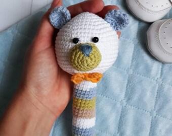Crochet bear Crochet toys Baby rattle Crochet baby toy Crochet animals Amigurumi bear Rattles Stuffed animal Newborn toy Baby Shower Gift