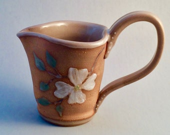 Pottery Rebecca Pitcher with Dogwoods