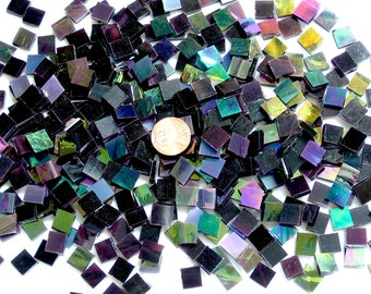 Deep Purple Iridescent Mosaic Tile