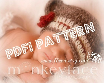 Plain and simple monkey hat crochet pattern - 7 sizes included - PDF1 digital download