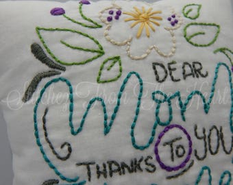 Mother's Day Pillow - Gift For Mom - Decorative Throw Pillow