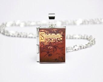 William Shakespeare Book Locket Charm. Vintage Book Charm. Book Necklace. Book Jewellery. Shakespeare Gift. Literary Jewelry. Locket Library