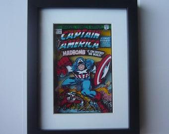 Captain America Comic 3D Shadow Box Framed Art (issue 193 ) diorama geek home decor avengers