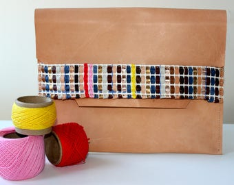 Leather clutch - ipad case