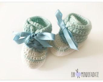 Crochet Baby Booties Unisex kids shoes newborn baby shoes