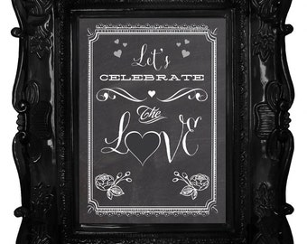 Célébrer l'amour chalkart