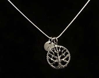 Tree of Life Sterling Silver Necklace, Tree Sterling Silver Necklace, Family Tree Sterling Necklace, Nature Sterling Necklace qb49