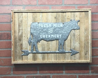 Cow, Kitchen Cow, Metal Cow, Cow Decor, Kitchen Decor, Country Kitchen,  Farmhouse Wall Decor, Farmhouse Decor, Barn Decor, Rustic Home Decor