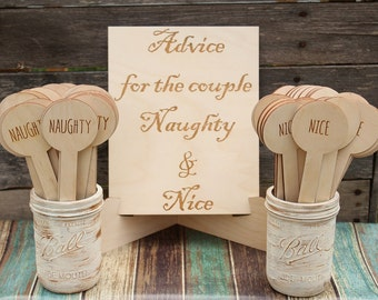 Advice For The Couple Bridal Shower Game Advice For The Bride Wedding Game Rustic Bridal Shower Naughty and Nice Game DownInTheBoondocks