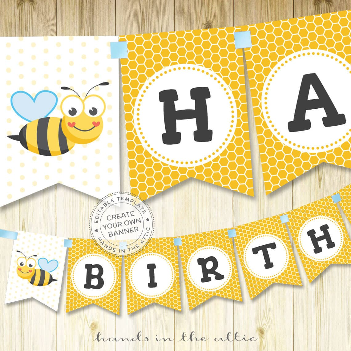 Bumblebee birthday party banner bumble bee banner alphabet zoom filmwisefo Images