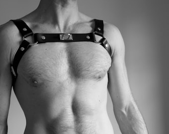 """THE HOOK"" Fetish harness leather"