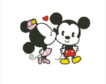 Mickey Mouse and Minnie Mouse SANTA 10 inches PDF