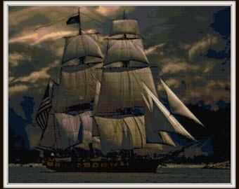 Nautical Cross Stitch Pattern - PDF Download
