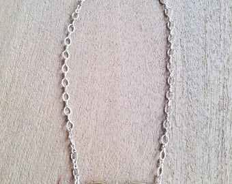 Shiny Silver Bifocals Necklace