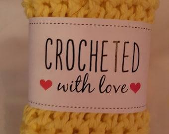 Dishcloth - Crochet - 9 X 8
