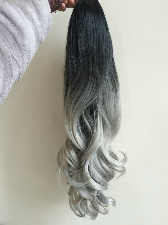 Full Head Dip Dye Clip In Hair Extensions Ombre 6 Pcs Off