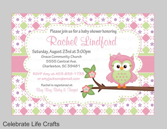 Owl baby shower invitations printable baby girl shower like this item filmwisefo Image collections