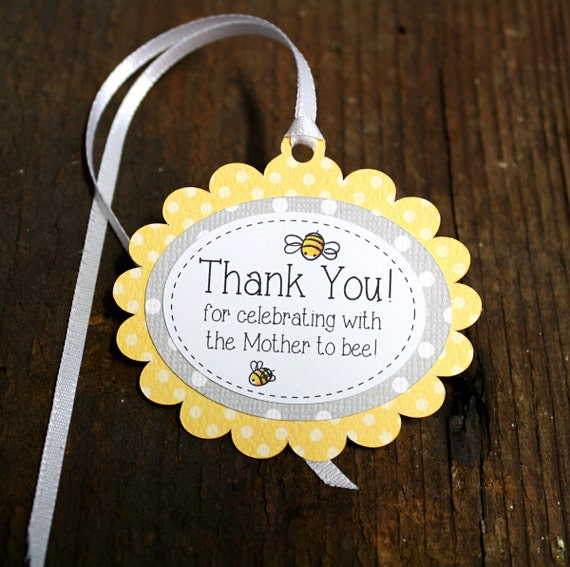 Bumble Bee Themed Baby Shower Tag Personalized Gift Tags Or Shower