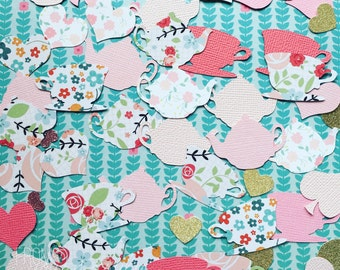 Alice in wonderland inspired tea party floral print and texture Confetti (Pk-40)