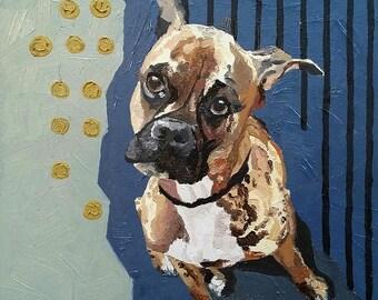 Custom Pet Portrait Painting