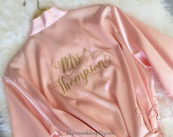 Bride Robe, Bride Gift, Wedding Day Robe, Bridesmaid Robes, Bride Robe, Getting Ready Robes, Wedding Gift, Mother of the Bride Gift
