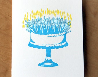 Quite the Glow - Letterpress Birthday Card