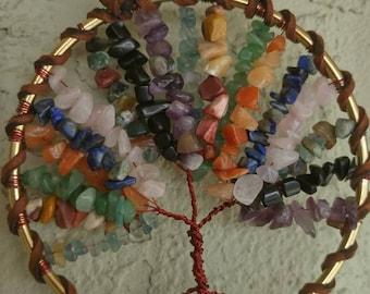 """Multi gemstone Tree of Life 4.25"""""""