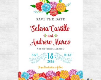 fiesta save the date cards / mexican save the date / printable save the date / printed save the dates
