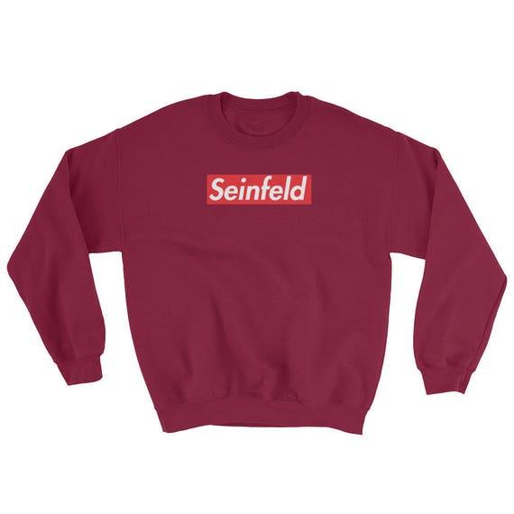 Seinfeld Supreme Red Box Logo Crew Neck Unisex Sweatshirt pJljyP