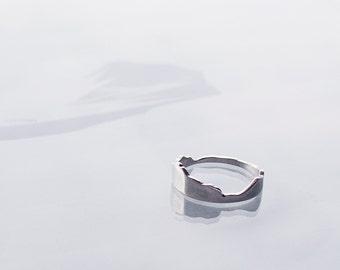 Silver Mountain Ring - Eyjar Iceland - Island Ring - Wedding - Engagement - Everyday Iceland
