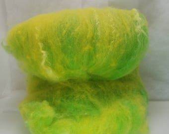 Wool and Tussah Silk spinning batt