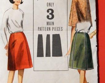 """Butterick 3509 Extra quick 'n easy skirt pattern 24"""" waist"""