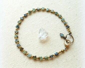 Turquoise star bracelet celestial jewelry bohemian bracelet simple everyday hippie gypsy jewelry star jewelry december birthstone third eye