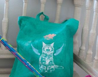 Unique cat tote bag