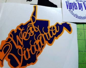 2 color West Virginia Decal