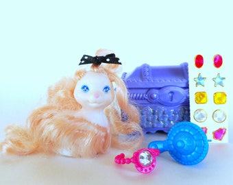 Vintage Littlest Pet Shop Pink Puff Puppy LPS Dazzling Hair Pets 1995 Kenner