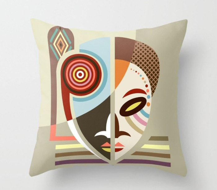 African Mask Throw Pillow, African Pillows, African Home Decor, African  Print, African Gifts, African Design, Urban African